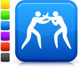 Boxing icon on square internet button Stock Photo