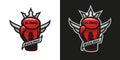Boxing King. Boxing glove logo. Royalty Free Stock Photo