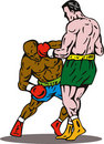 Boxing knockout punch Royalty Free Stock Image