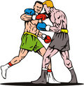 Boxing knockout punch winner Stock Photos