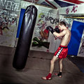 Boxing practise Royalty Free Stock Photography