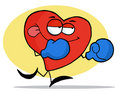 Boxing Red Heart Stock Image