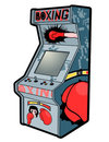 Boxing retro arcade Stock Photography