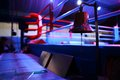 Boxing ring and bell Royalty Free Stock Photo