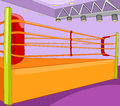 Boxing ring cartoon background vector illustration eps Royalty Free Stock Photos