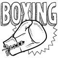 Boxing sketch Royalty Free Stock Image