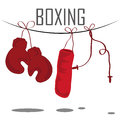 Boxing tools some red of in a white background Royalty Free Stock Photos