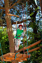 Boy in adventure park Stock Images