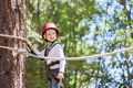 Boy at adventure park Royalty Free Stock Photo