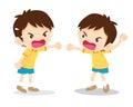 Boy angry shouting