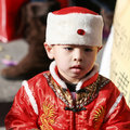 Boy in Asian costume Royalty Free Stock Photos