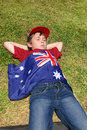 Boy with Australian flag Royalty Free Stock Photos