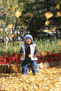 Boy in autumn Royalty Free Stock Images