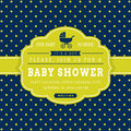 Boy baby shower. Vector card. Royalty Free Stock Photo