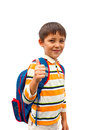 Boy with a backpack Stock Photography