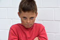 Boy  in bad mood Royalty Free Stock Photo