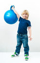 Boy with the ball Stock Photos