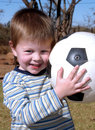 Boy with a ball Stock Photo
