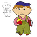 Boy with ball cartoon illustration of a Royalty Free Stock Photography