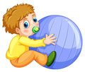 Boy and ball Royalty Free Stock Photo