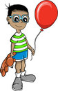 Boy With Balloon Vector Illustration Stock Photos