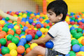 Boy in balls pool Royalty Free Stock Photo