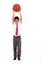 Boy basket ball Stock Images