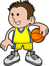 Boy basketball player Stock Images
