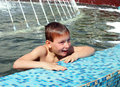 Boy bath in fountain Royalty Free Stock Photos
