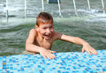 Boy bath in fountain Stock Image