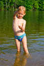 Boy bathes Royalty Free Stock Photo