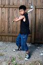 Boy batter Royalty Free Stock Photography