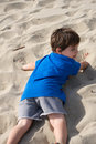 Boy on the beach Royalty Free Stock Photography