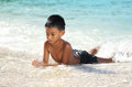 Boy At The Beach Royalty Free Stock Images