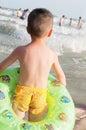 Chinese kid beach Royalty Free Stock Photo