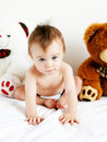 Boy and bears Royalty Free Stock Photo