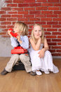 Boy and a beautiful girl. Love concept Royalty Free Stock Photo