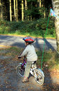 Boy and bicycle Royalty Free Stock Photos