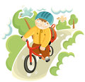 Boy on the bicycle Royalty Free Stock Photo