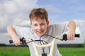 Boy on bike Royalty Free Stock Photo