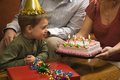 Boy at birthday party. Stock Images