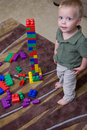 Boy with blocks Stock Photos