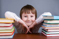 Boy and books Royalty Free Stock Photo