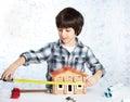 Boy builder Royalty Free Stock Photo
