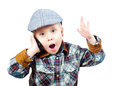 Boy in a cap Royalty Free Stock Photos