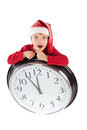Boy in cap of Santa Claus Royalty Free Stock Image