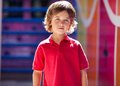 Boy in casuals at preschool portrait of cute little Royalty Free Stock Photos