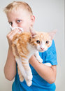 A Boy With Cat Allergy