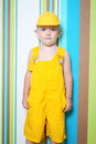 Boy child builder Stock Photography