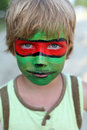 Boy child with a mask on her face Royalty Free Stock Image